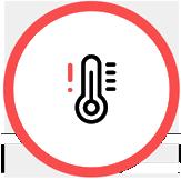 Несоответствие температур на пульте